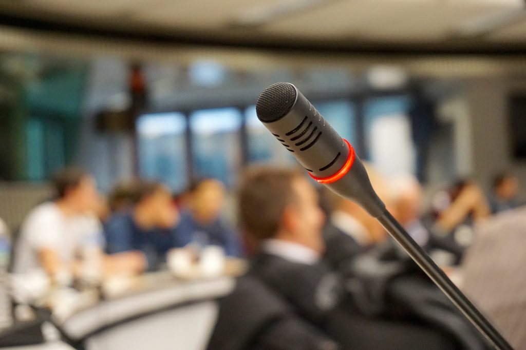 Microphone, business conference event