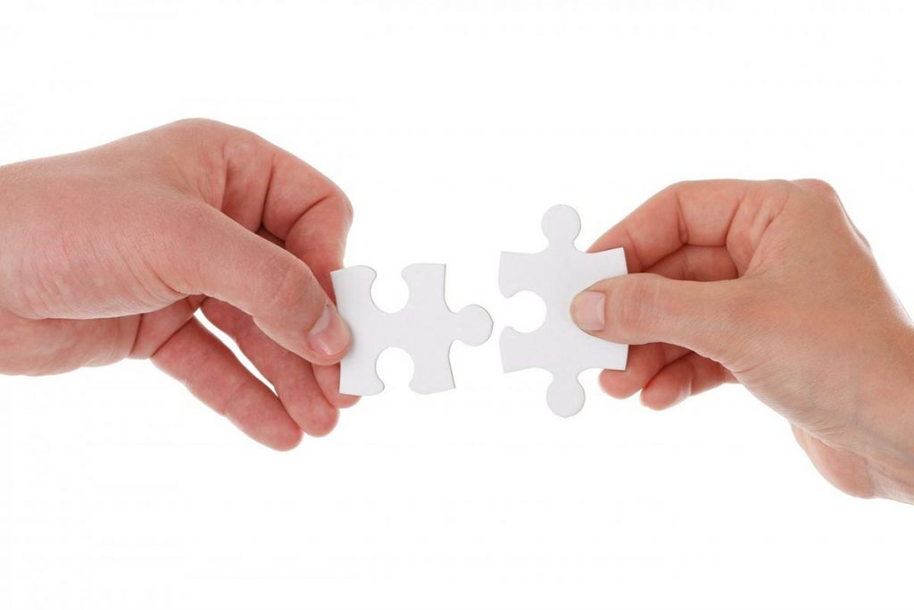 Joining jigsaw puzzle pieces
