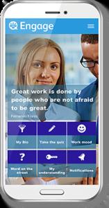 Engage app on smartphone