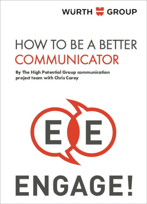 How to be a Better Communicator branded book cover example