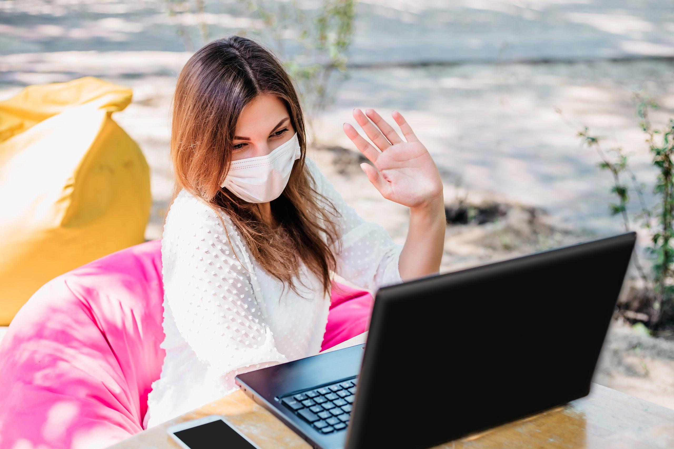 Lady Using Laptop | Axiom Communications