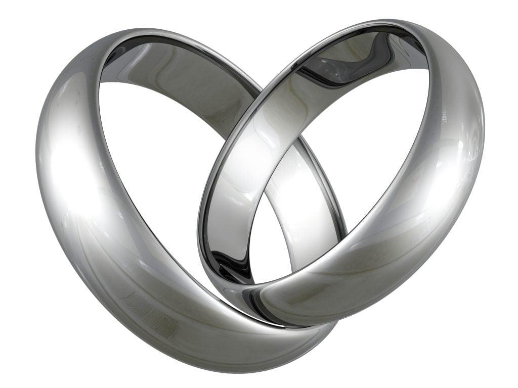 Wedding Rings In Heart Shape