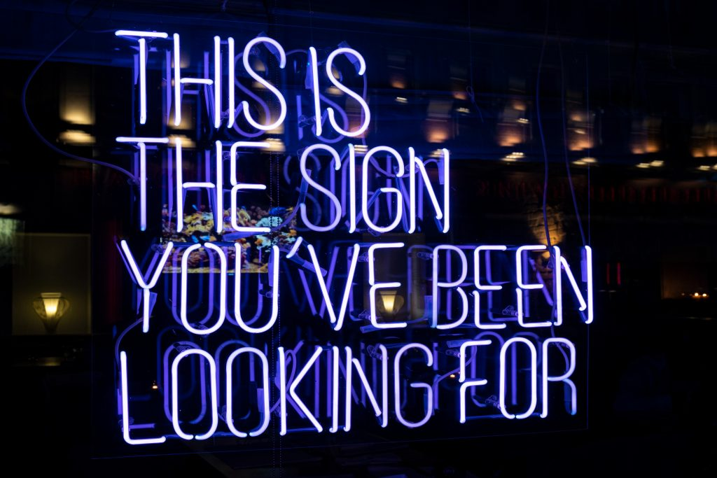 Glowing Neon Sign
